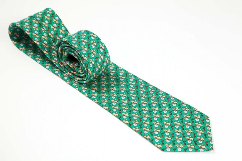 Play up your St. Patrick's Day outfit with the Fat Cat tie in green.